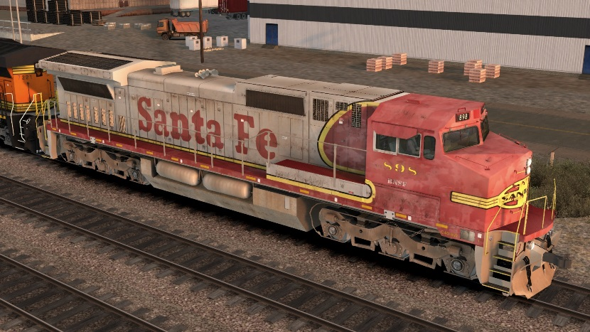 ATSF C40-8W Patched 1
