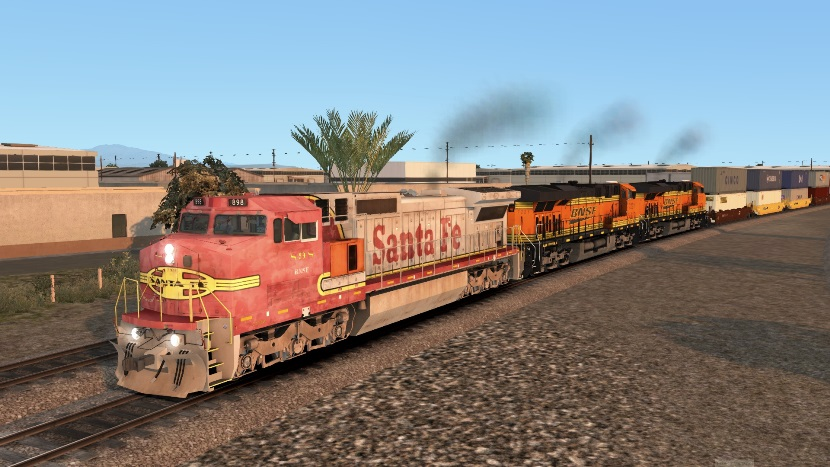 ATSF C40-8W Patched 2